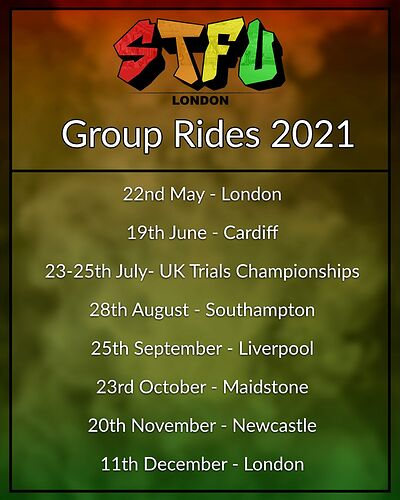 2021 Ride Poster