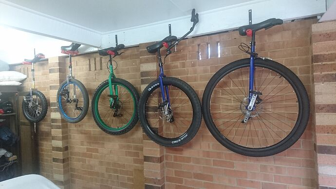 5 unicycles